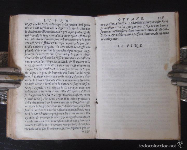 Libros antiguos: Raro - Venecia, 1578 - Aquiles Tacio: Leucipa y Clitofonte - Novela Erótica Bizantina - Pergamino - Foto 15 - 60379143