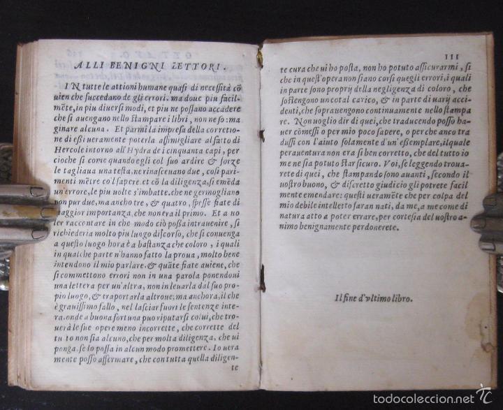 Libros antiguos: Raro - Venecia, 1578 - Aquiles Tacio: Leucipa y Clitofonte - Novela Erótica Bizantina - Pergamino - Foto 16 - 60379143