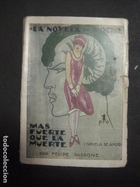 ILUSTRACIONES DE PENAGOS - LA NOVELA DE NOCHE- MAS FUERTE QUE LA MUERTE -VER FOTOS(V-10.712) (Libros antiguos (hasta 1936), raros y curiosos - Literatura - Narrativa - Erótica)