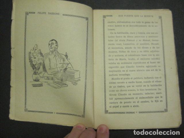 Libros antiguos: ILUSTRACIONES DE PENAGOS - LA NOVELA DE NOCHE- MAS FUERTE QUE LA MUERTE -VER FOTOS(V-10.712) - Foto 3 - 84724328