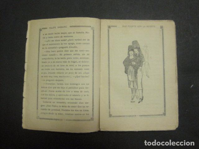 Libros antiguos: ILUSTRACIONES DE PENAGOS - LA NOVELA DE NOCHE- MAS FUERTE QUE LA MUERTE -VER FOTOS(V-10.712) - Foto 4 - 84724328