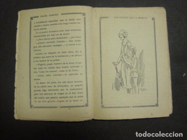 Libros antiguos: ILUSTRACIONES DE PENAGOS - LA NOVELA DE NOCHE- MAS FUERTE QUE LA MUERTE -VER FOTOS(V-10.712) - Foto 5 - 84724328