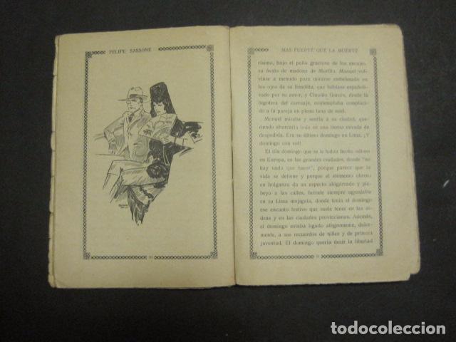 Libros antiguos: ILUSTRACIONES DE PENAGOS - LA NOVELA DE NOCHE- MAS FUERTE QUE LA MUERTE -VER FOTOS(V-10.712) - Foto 6 - 84724328