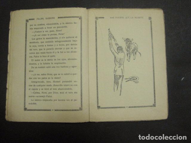 Libros antiguos: ILUSTRACIONES DE PENAGOS - LA NOVELA DE NOCHE- MAS FUERTE QUE LA MUERTE -VER FOTOS(V-10.712) - Foto 7 - 84724328