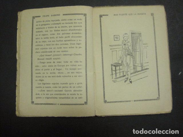 Libros antiguos: ILUSTRACIONES DE PENAGOS - LA NOVELA DE NOCHE- MAS FUERTE QUE LA MUERTE -VER FOTOS(V-10.712) - Foto 8 - 84724328