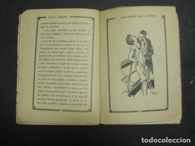 Libros antiguos: ILUSTRACIONES DE PENAGOS - LA NOVELA DE NOCHE- MAS FUERTE QUE LA MUERTE -VER FOTOS(V-10.712) - Foto 11 - 84724328