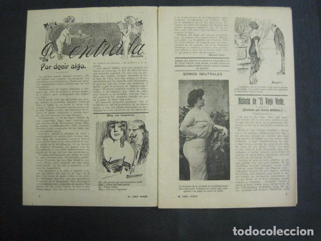 Libros antiguos: EL VIEJO VERDE - CRONICA MUNDANA - NUM. 20 - NOVIEMBRE 1914 - MADRID -VER FOTOS-(V- 11.638) - Foto 2 - 89849664