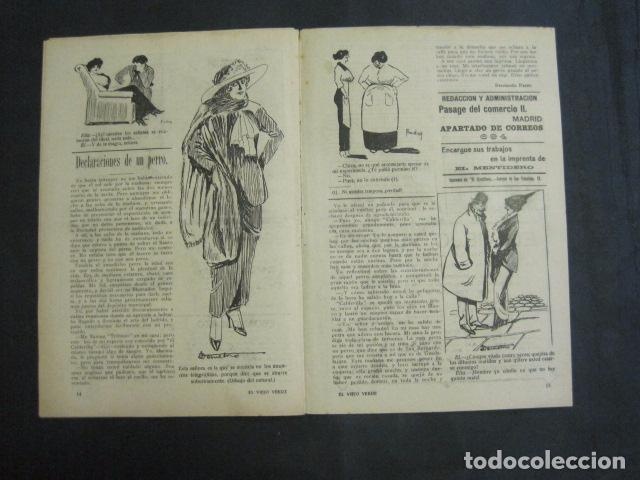 Libros antiguos: EL VIEJO VERDE - CRONICA MUNDANA - NUM. 20 - NOVIEMBRE 1914 - MADRID -VER FOTOS-(V- 11.638) - Foto 8 - 89849664
