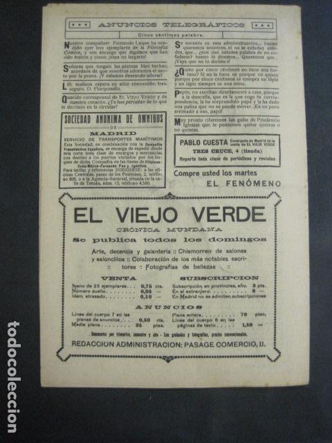Libros antiguos: EL VIEJO VERDE - CRONICA MUNDANA - NUM. 20 - NOVIEMBRE 1914 - MADRID -VER FOTOS-(V- 11.638) - Foto 9 - 89849664