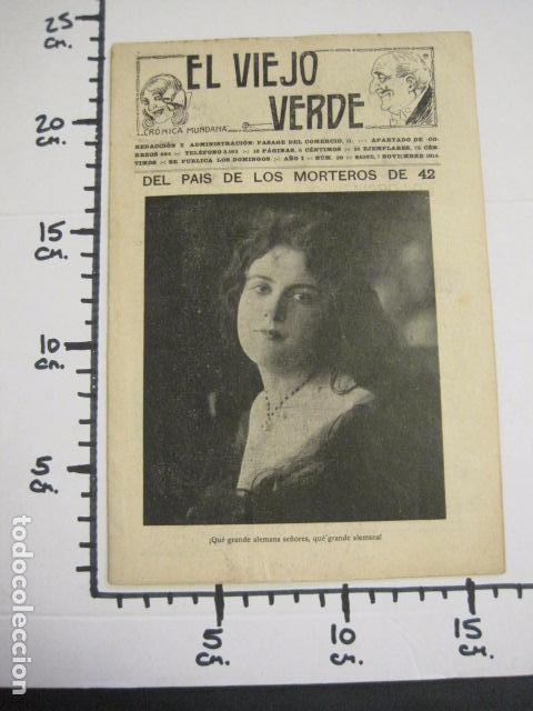 Libros antiguos: EL VIEJO VERDE - CRONICA MUNDANA - NUM. 20 - NOVIEMBRE 1914 - MADRID -VER FOTOS-(V- 11.638) - Foto 10 - 89849664