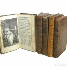 Libros antiguos: 1734 - LOTE DE 5 LIBROS ANTIGUOS DEL SIGLO XVIII - LITERATURA LICENCIOSA - RESTIF DE LA BRETONNE . Lote 103906458