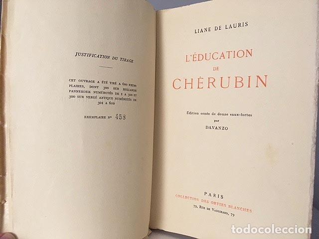 Libros antiguos: De Lauris : L´education de Cherubin. (con 12 grabad de Davanzo. Paris, 1934) Tirad numerad. Erótica - Foto 5 - 103207787