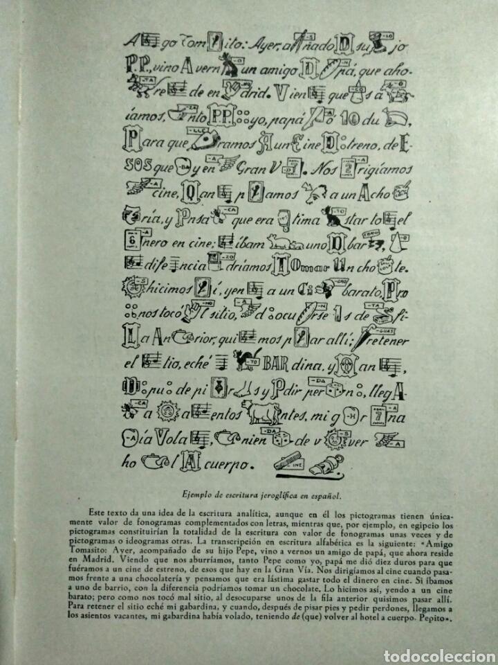 Libros antiguos: LA ESCRITURA EN EL MUNDO. MANUEL AGUIRRE. MADRID 1961. Primera edición. Firmado por el autor - Foto 6 - 107122964