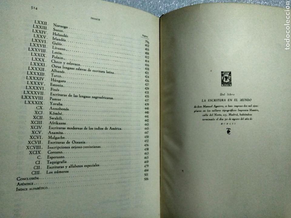 Libros antiguos: LA ESCRITURA EN EL MUNDO. MANUEL AGUIRRE. MADRID 1961. Primera edición. Firmado por el autor - Foto 9 - 107122964