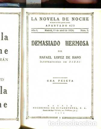 Libros antiguos: Demasiado hermosa - La maldita Carne - Erotica - Galante - - Foto 2 - 113620371