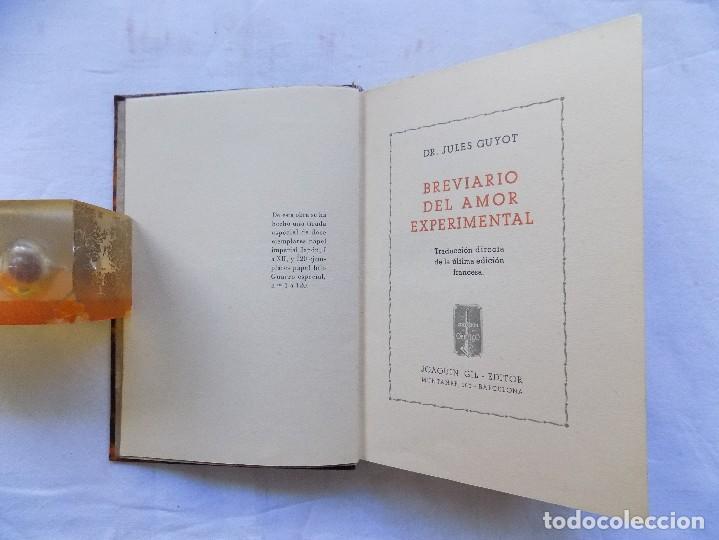 LIBRERIA GHOTICA. BREVIARIO DEL AMOR EXPERIMENTAL.1935. BELLA EDICION CON GRABADOS. 1ª EDICION. (Libros antiguos (hasta 1936), raros y curiosos - Literatura - Narrativa - Erótica)
