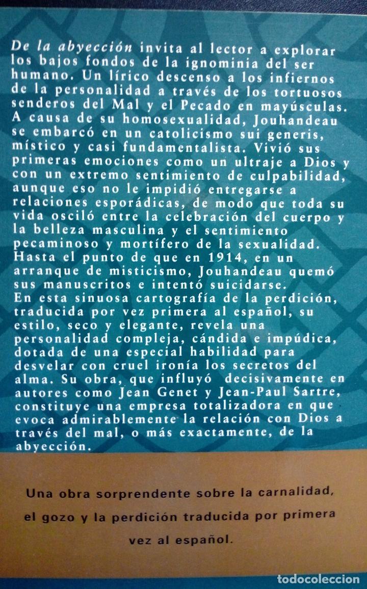 Libros antiguos: MARCEL JOUHANDEAU. DE LA ABYECCIÓN. (LITERATURA GAY ) - Foto 3 - 123419299