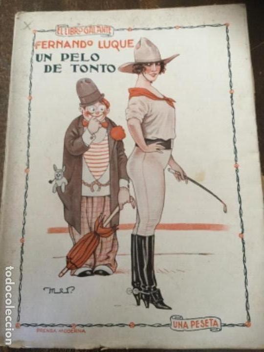 UN PELO DE TONTO, FERNANDO LUQUE. 1925. LIBRO GALANTE, PRENSA MODERNA (Libros antiguos (hasta 1936), raros y curiosos - Literatura - Narrativa - Erótica)