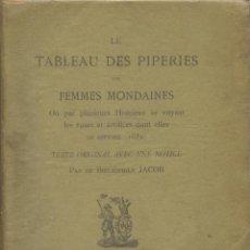 Libros antiguos: LE TABLEAU DES PIPERIES DES FEMMES MONDAINES. PARÍS: LEON WILLEM, 1879. Lote 128577679