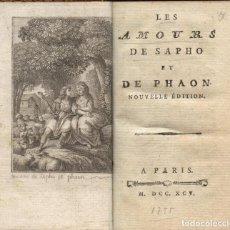 Libros antiguos: LES AMOURS DE SAPHO ET DE PHAON. PARÍS: S.N., 1795. Lote 128633863