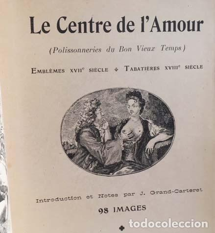 Libros antiguos: Le Centre de lamour (Emblèmes XVIIe siècle. Tabatières (Erótica. Emblemas s XVII, s XVIII - Foto 2 - 131088892