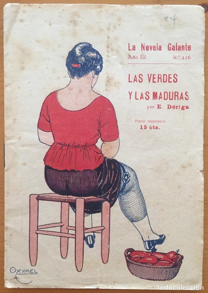 EROTISMO- LA NOVELA GALANTE- LAS VERDES Y LAS MADURAS- E. DORIGA (Libros antiguos (hasta 1936), raros y curiosos - Literatura - Narrativa - Erótica)