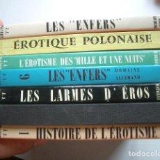 Libros antiguos: LOTE DE LIBROS SOBRE EROTOLOGÍA LES ENFERS. PANORAMA DE L'ÉROTISME. 1963 VER FOTOS. Lote 134373738
