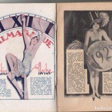 Libros antiguos: ALMANAQUE DE MEDIA NOCHE 1928. BUENOS AIRES. RARO Y MUY BONITO. ERÓTICA. PSICALÍPTICO. Lote 134978890
