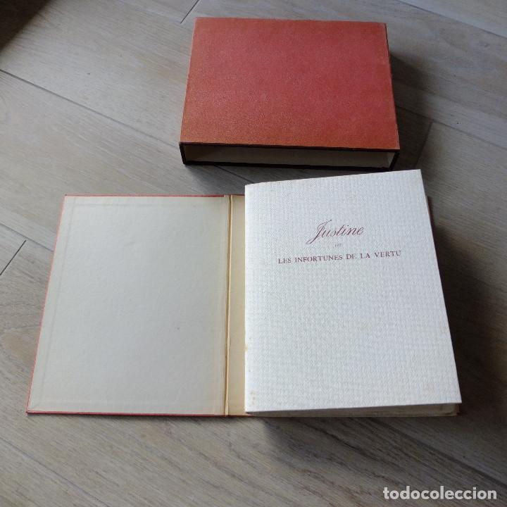 Libros antiguos: JUSTINE , MARQUES DE SADE , CURIOSA , EROTICO , GRABADOS SCHEM 1949 primera edición lujo numerada - Foto 4 - 150624502