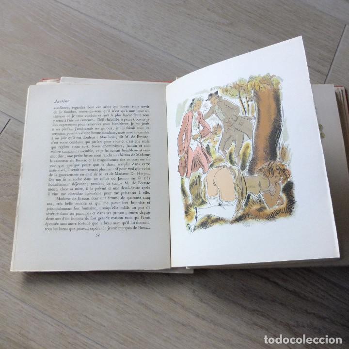 Libros antiguos: JUSTINE , MARQUES DE SADE , CURIOSA , EROTICO , GRABADOS SCHEM 1949 primera edición lujo numerada - Foto 6 - 150624502