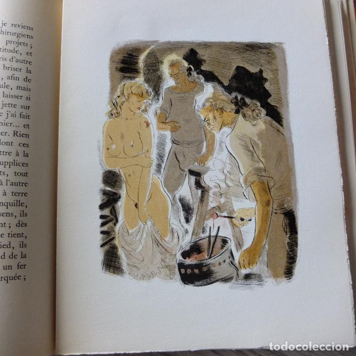 Libros antiguos: JUSTINE , MARQUES DE SADE , CURIOSA , EROTICO , GRABADOS SCHEM 1949 primera edición lujo numerada - Foto 7 - 150624502
