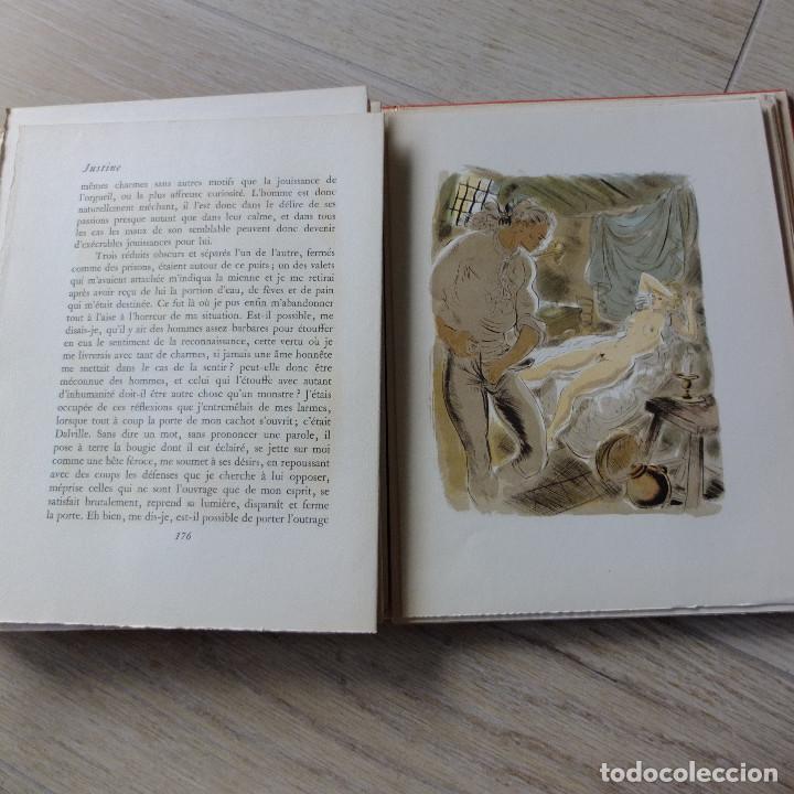 Libros antiguos: JUSTINE , MARQUES DE SADE , CURIOSA , EROTICO , GRABADOS SCHEM 1949 primera edición lujo numerada - Foto 8 - 150624502