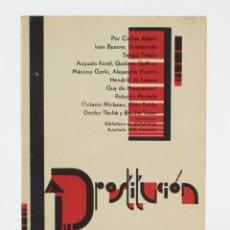 Libros antiguos: LA PROSTITUCIÓN, BIBLIOTECA ESTUDIOS, DIVERSOS AUTORES, VALENCIA. 16,5X12CM. Lote 154110050