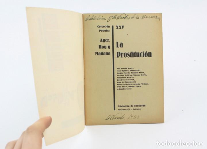 Libros antiguos: La prostitución, biblioteca estudios, diversos autores, Valencia. 16,5x12cm - Foto 2 - 154110050