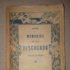 Libros antiguos: MEMORIAS DE UNA DESCOCADA. ANÓNIMO. COLECCIÓN AFRODITA. BARCELONA 19??. RARO.... Lote 160191186