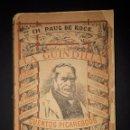 Libros antiguos: LA GUINDILLA CUENTOS PICARESCOS DE PAUL DE KOCK VALENCIA 1884 . Lote 160540050