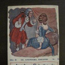 Libros antiguos: LA AVENTURA GALANTE-NOVELA EROTICA-EN EL CLAVO Y EN LA HERRADURA-NUM·31-VER FOTOS-(V-16.667). Lote 161390502
