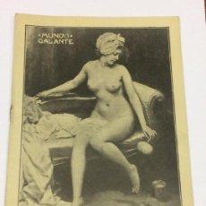 Libros antiguos: REVISTA MUNDO GALANTE ** NÚMERO 1 ** PRENSA LITERATURA ERÓTICA AÑO 1912. Lote 169159024