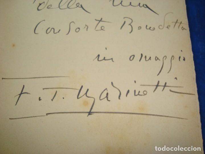 Libros antiguos: 1935 Erotica Futurismo Benedetta Astra e il Sottomarino autografiado por Marinetti - Foto 3 - 171139132