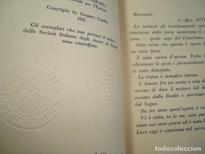 Libros antiguos: 1935 Erotica Futurismo Benedetta Astra e il Sottomarino autografiado por Marinetti - Foto 4 - 171139132