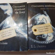 Libros antiguos: LIBROS CINCUENTA SOMBRAS DE GREY DE E.L.JAMES . Lote 173855290
