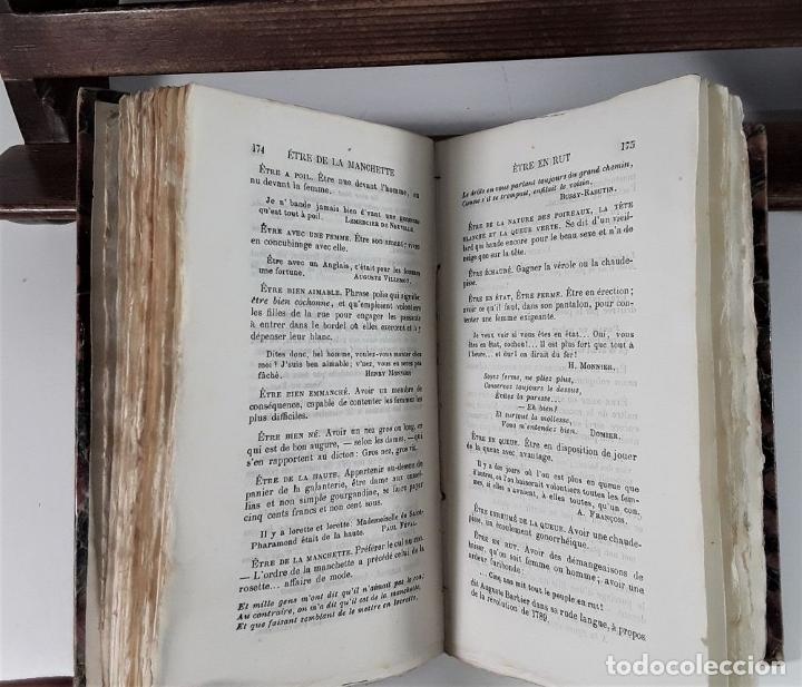 Libros antiguos: DICTIONNAIRE ÉROTIQUE NODERNE. EJEM. Nº 64. ALFRED DELVAU. IMP. NEUCHATEL. 1874. - Foto 5 - 176321359