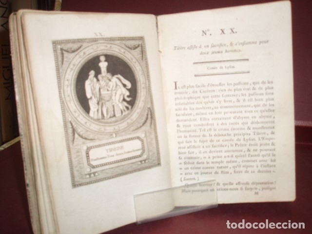 Libros antiguos: MONUMENS DE LA VIE PRIVEE DES DOUZE CESARS 1786 - Foto 3 - 179036811