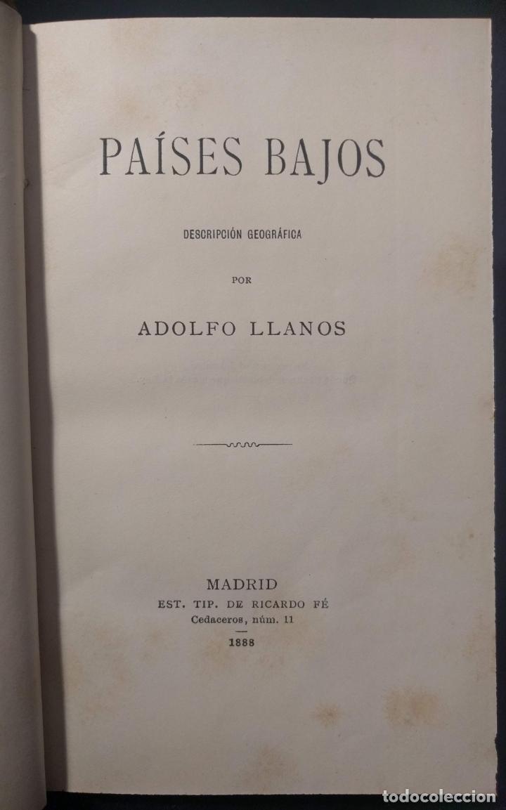 PAÍSES BAJOS. DESCRIPCIÓN GEOGRÁFICA POR ADOLFO LLANOS. ERÓTICA. 1888. RICARDO FÉ. (Libros antiguos (hasta 1936), raros y curiosos - Literatura - Narrativa - Erótica)