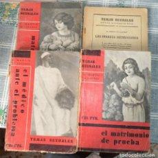 Libros antiguos: TEMAS SEXUALES 4 TOMOS 17-21-37-54 A. MARTIN DE LUCENAY ED FENIX 1ª ED. 1933 . Lote 182645696