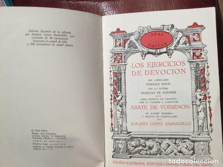 Libros antiguos: LIBRO LOS EJERCICIOS DE DEVOCIÓN de Akal Editores 1978 - Foto 2 - 186301215