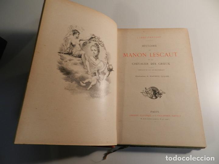 MANON LESCAUT L'ABBE PREVOST / ED J. TALLANDIER PARIS 1903/1904 (Libros antiguos (hasta 1936), raros y curiosos - Literatura - Narrativa - Erótica)