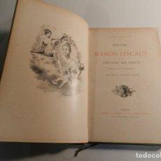 Libros antiguos: MANON LESCAUT L'ABBE PREVOST / ED J. TALLANDIER PARIS 1903/1904. Lote 196123613