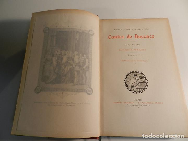 CONTES DE BOCCACE ILUSTRATIONS JACQUES WAGREZ / ED J. TALLANDIER PARIS 1903/1904 ERÓTICA EROTISMO (Libros antiguos (hasta 1936), raros y curiosos - Literatura - Narrativa - Erótica)
