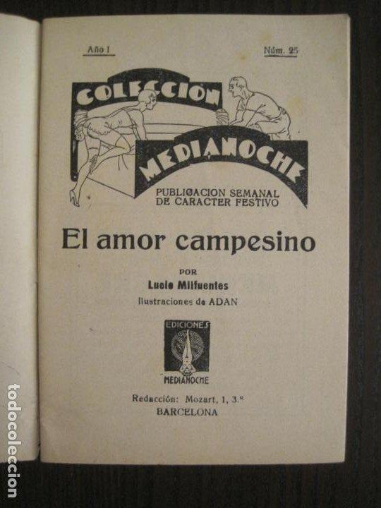 Libros antiguos: MEDIANOCHE-EL AMOR CAMPESINO-NUM·25-NOVELA EROTICA-VER FOTOS-(V-19.551) - Foto 2 - 201326048